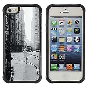 fashion Case Street Ballerina Vintage Black White Dance Apple Iphone 5c