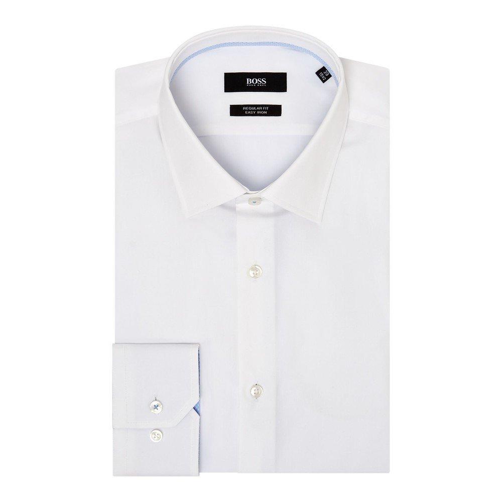 (ヒューゴ ボス) Hugo Boss メンズ トップス シャツ Gelson Regular Contrast Trim Shirt [並行輸入品] B07FC6646S 17.5