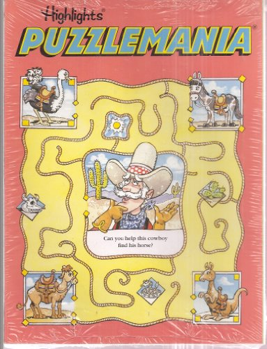 Highlights: Puzzlemania 2-Book Set: Can You Help This Cowboy Find His Horse / Find the Leaves That Match These Four - Highlights Set