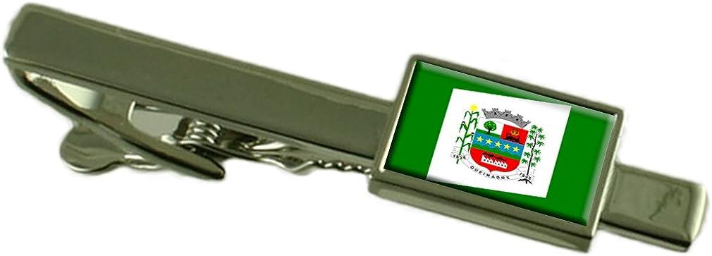 Select Gifts Queimados City Rio de Janeiro State Flag Tie Clip
