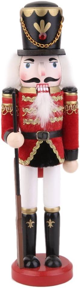P Prettyia 30cm Casse-Noisette en Bois Figurine Marionnette Multicolore Peint /à La Main Objets de d/écoration Embellissement pour Maison Table