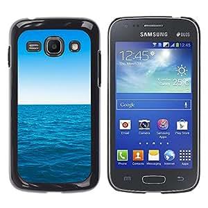 EJOY---Cubierta de la caja de protección la piel dura para el / Samsung Galaxy Ace 3 / --Azul océano y el cielo