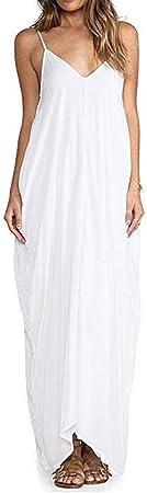 Vestido: Vestido de verano para mujer, largo maxi, vestido con vuelo, vestidos de verano para mujer,