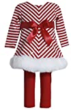 Bonnie Jean Girls Red Sequins Christmas Santa Dress