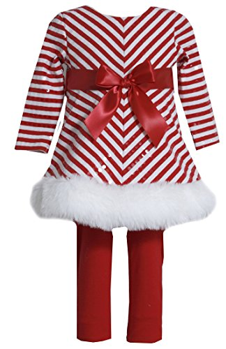 Holiday Dresses For Baby Girl (Bonnie Jean Girls Red Sequins Christmas Santa Dress Legging Outfit,)