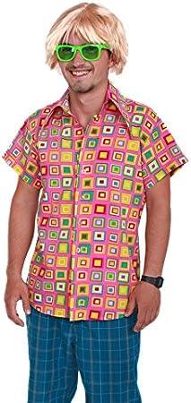 Marco Porta Los años 70 Retro Camisa Rosa (Large): Amazon.es: Juguetes y juegos