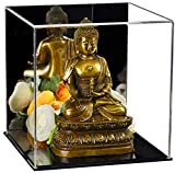 Better Display Cases Versatile Acrylic Mirrored Display Case, Cube, Dust Cover or Riser with Black Base 8' x 8' x 8' (A059-MDS)