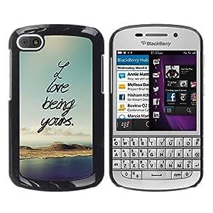 Dragon Case - FOR BlackBerry Q10 - love being yours - Caja protectora de pl??stico duro de la cubierta Dise?¡Ào Slim Fit
