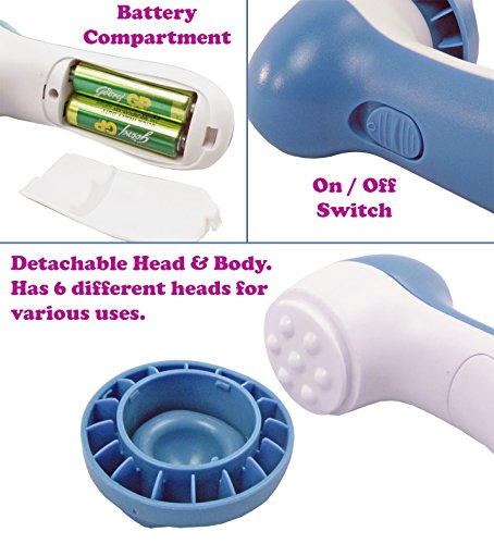 Gadget Hero's 6 in 1 Beauty Face Massager, Super Cleansing System, Skin Care, Stress Buster, Relaxer.