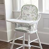 Carousel Designs Nursery Rhyme Toile Sage High Chair Pad