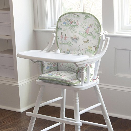 Carousel Designs Nursery Rhyme Toile Sage High Chair Pad