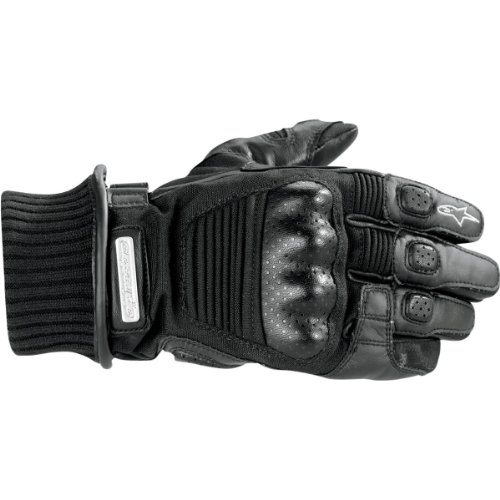 Alpinestars Arctic Drystar Gloves , Distinct Name: Black, Size: 2XL, Gender: Mens/Unisex, Primary Color: Black, Apparel Material: Textile 3525411-10-2XL