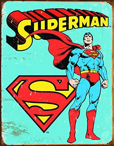 (Desperate Enterprises MS1335 Superman Tin Sign 12 x 16in, Multi-Colored)