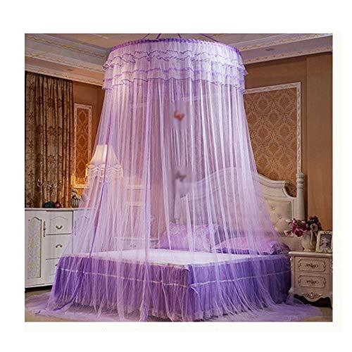 ヨーロッパ風の宮殿のネット、天井のデザイン、広いスペース、暗号化されたメッシュ、レースの装飾、取り付けが簡単 (色 : Purple)  Purple B07PQD6B1Q
