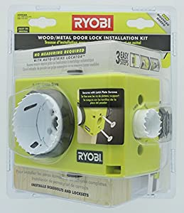 Ryobi A99dlk4 Wood And Metal Door Lock Installation Kit