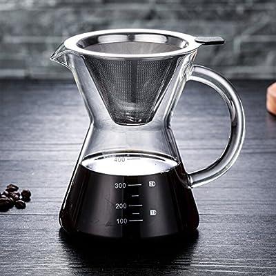 funnytoday365 400 ml para más de café manual cafetera de goteo ...
