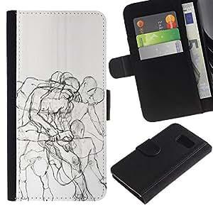 All Phone Most Case / Oferta Especial Cáscara Funda de cuero Monedero Cubierta de proteccion Caso / Wallet Case for Sony Xperia Z3 Compact // Body Anatomy Drawing Pencil