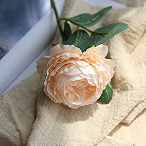 Rm.Baby 1Pcs Artificial Fake Flowers Rose Peony Floral Real Touch Cloth Material Arrangement Bouquets Bridal Hydrangea Home Garden Decor Room Office Centerpiece Party Wedding Decor 5