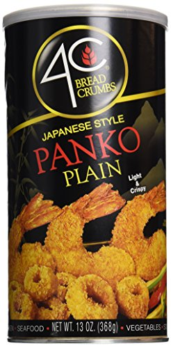 4C Panko Bread Crumbs Plain, 13 oz Crispy Bread Crumbs