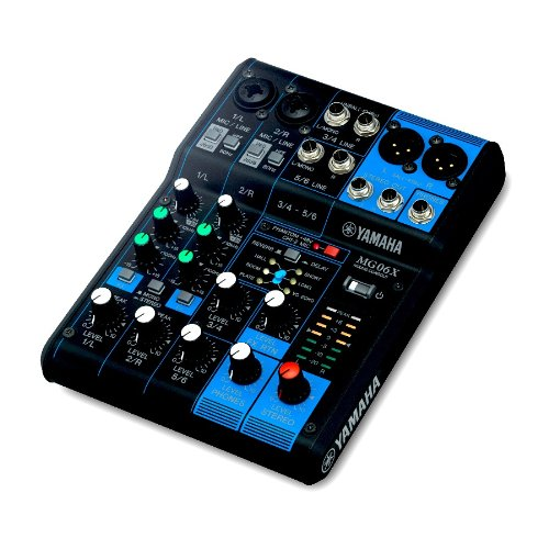 6 channel console digital effects MG06X