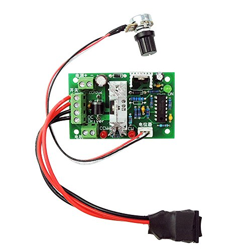 uniquegoods 10V 24V 30VDC(max) 3A 80W PWM DC Motor Speed Controller with Reversible Switch Adjustable Led Variable Speed Control Reversing - 80w 30v Lamp