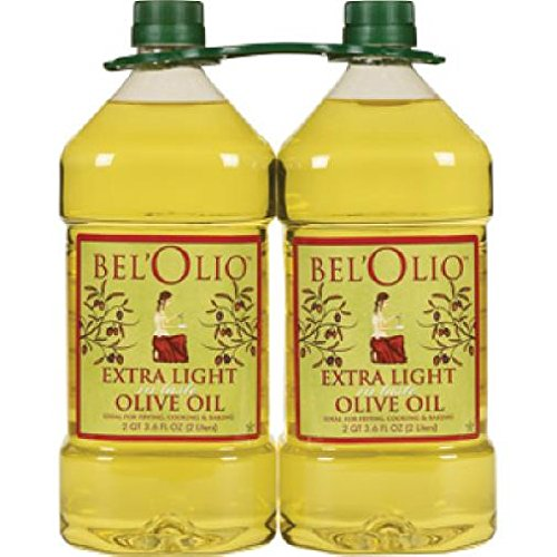 Belolio Twin Pack Extra Light Tasting Olive Oil - 2 Liters (4 Liters Total)