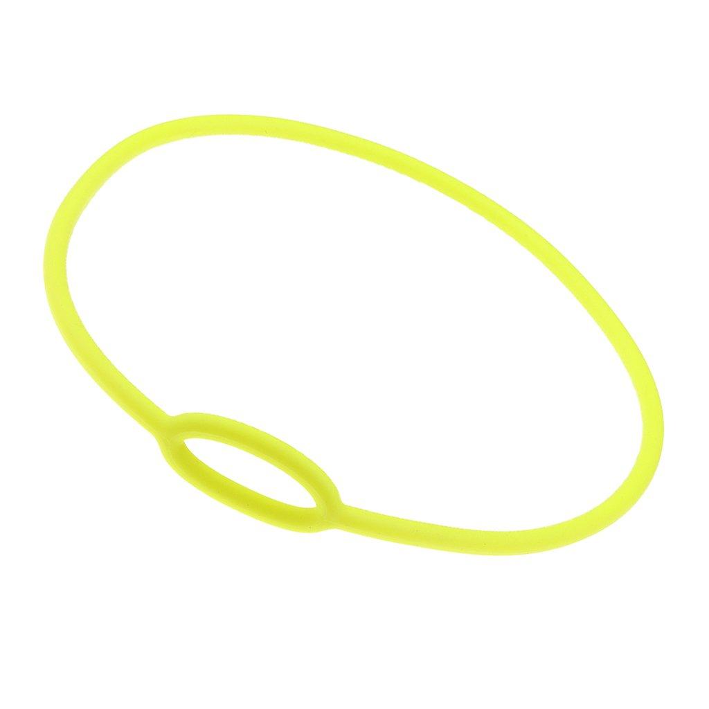 perfk Regulador Collar Buceo Silicona Scuba Necklace Regulator 65cm Bungee Dive Gear Equipo Snorkel - Amarillo