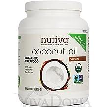 Organic Extra Virgin Coconut Oil 2.3L by Nutiva Unrefined
