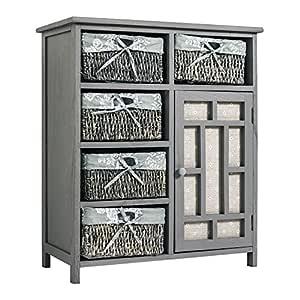 Mobili rebecca mueble auxiliar comoda 5 cestas 1 puerta for Regalo gratis mobili