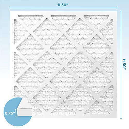 12x12x1 MERV 8 Pleated Air Filters (6-Pack) - Premium Furnace, Air Conditioner and HVAC Filter - Blocks Dust, Pet Dander, Lint, Pollen - Universal Compatibility - MervFilters