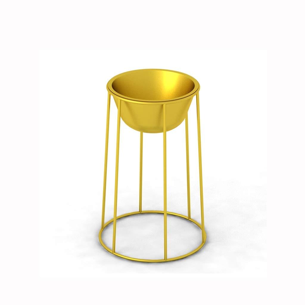 FKYGDQ Fioriera in Ferro battuto a Terra Fiore d'oro mensola Soggiorno Decorativa in Vaso in Due Dimensioni Rack Opzionale Stand di Fiori (Dimensioni   38×41cm)