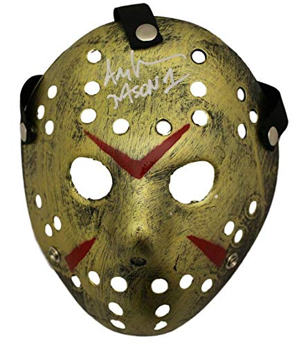 Ari Lehman Autographed Friday The 13th Replica Gold Mask Jason BAS from DenverAutographs