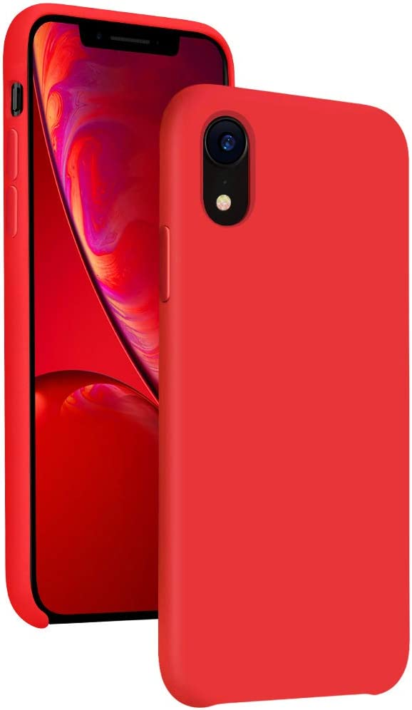 Diaclara Silicone iPhone XR Case Red, 6.1'' iPhone 10R Cases Hybrid Gel Rubber Slim Classic Bumper Shockproof Drop Protective Cover for Apple iPhone 2018(Red, 6.1)