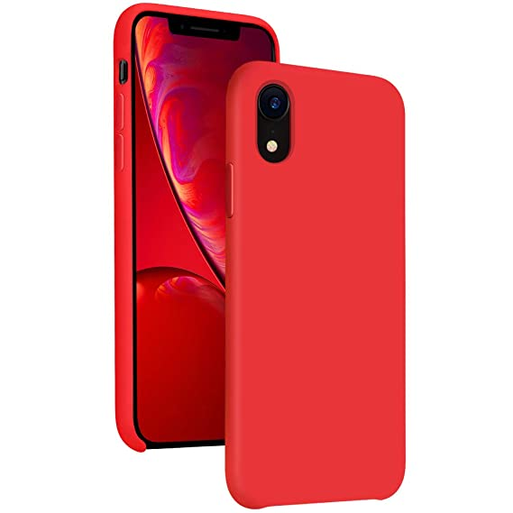 sports shoes fab33 be391 Diaclara Silicone iPhone XR Case Red, 6.1'' iPhone 10R Cases Hybrid Gel  Rubber Slim Classic Bumper Shockproof Drop Protective Cover for Apple  iPhone ...