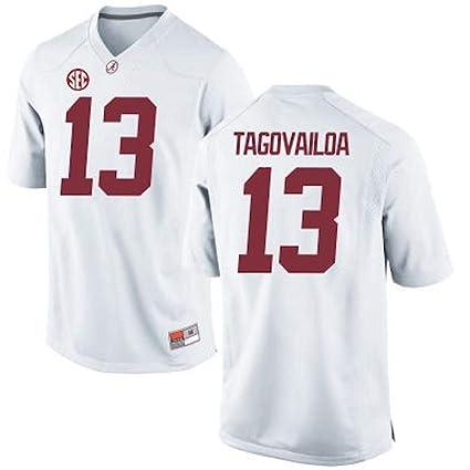 Amazon.com   NCAA Sports Tua Tagovailoa Alabama Crimson Tide  13 Stitched  Gameday Replica Jersey - White (S)   Sports   Outdoors 5ca0165b3