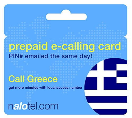 Prepaid Phone Card - Cheap International E-Calling Card $10 for Greece with same day emailed PIN, no postage necessary by Nalotel