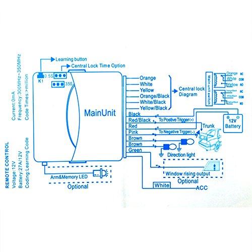 Cuque Kit de Syst/ème de Verrouillage T/él/écommande Centralis/é Keyless Entr/ée Universel avec 2 Bouton Verrouillage Centralis/é