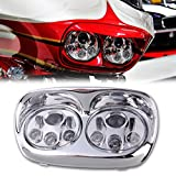 SUNPIE 5-3/4 Chrome Motorcycle Projector Day Maker Dual LED Headlight for 2004~2013 Harley Davidson Road Glide