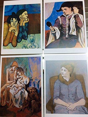 Ediciones Blok Set - 4 Lot Pablo Picasso postales -Postcards-Carte Postale-Postkarte. New. Lote.