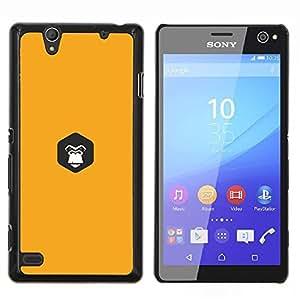 TECHCASE---Cubierta de la caja de protección para la piel dura ** Sony Xperia C4 ** --amarilla gorila interior