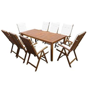 Festnight Garten Essgruppe 17 Tlg Holz Sitzgruppe