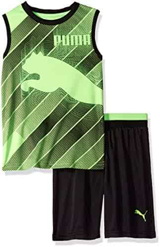 PUMA Boys' 2-Piece Short and Muscle Set