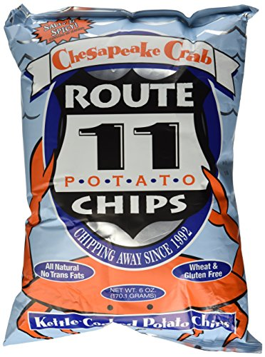 Route 11 Chesapeake Crab All Natural Potato Chips 6 oz (Pack of 3)