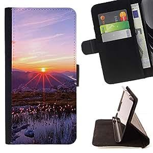 For Sony Xperia M5 E5603 E5606 E5653 Case , Naturaleza Hermosa Forrest Verde 83- la tarjeta de Crédito Slots PU Funda de cuero Monedero caso cubierta de piel