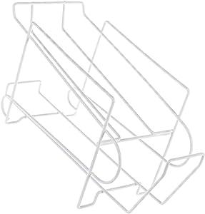 Cabilock Metal Wire Soda and Food Can Dispenser Storage Rack 2-Tier Steel Dispenser Front Loading Rack Cans Organizer Holder for Fridge Kitchen Pantry