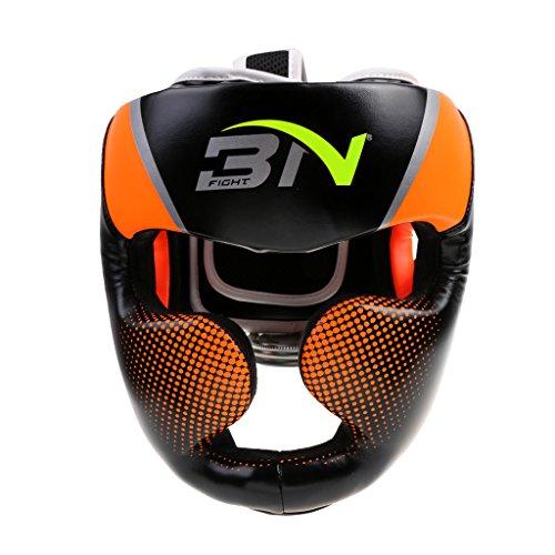 Jili Online Boxing Helmet Training Head Guard Kick Protector Full Face Protector Adult - Orange
