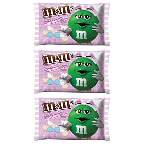 M&Ms White Chocolate Marshmallow Easter Candy - Pack of 3 Bags - 8 oz per Bag -