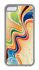 Customized Case Patterns Swirls 5 TPU Transparent for Apple iPhone 5C