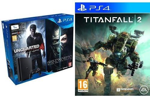 PlayStation 4 - Bundle Consola TB + Uncharted 4 + Dishonored 2 + Titanfall 2: Amazon.es: Videojuegos