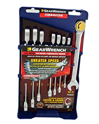 GearWrench Combination Ratcheting Wrench Set Metric
